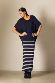 Tluxe - Saint Malo Stripe Tube Maxi Skirt