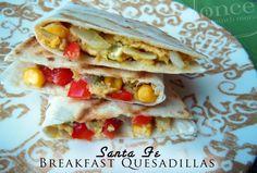 Santa Fe Breakfast Quesadillas Party Food Idea for Kids Breakfast