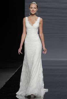 Brides.com: . Gown by Rosa Clará Hard to tell if this is the one I tried on, but it seems similar