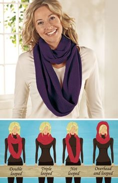 How to wear an endless loop scarf… I needed these instructions.. cause I recently got one of these and Idk how to wear it :P