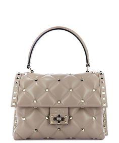 4e9c8e9d3646 VALENTINO VALENTINO GARAVANI CANDYSTUD HANDBAG.  valentino  bags  leather   cotton