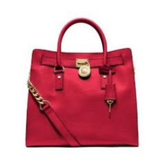 Michael Kors Hamilton Large Norh/South Saffiano Leather Tote, Chili