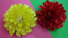 D.I.Y. Satin Dahlia Flower - Tutorial