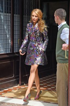 Blake Lively in a Valentino trench