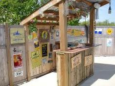 Tiki Bar for Steve to build this summer.  Maybe stone or tile the surface or paint a cool color?