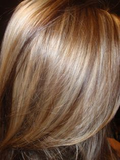 Light Blonde With Caramel Highlights | Hi-lights & Low-lights by Denise Genova using Artease Hair Color at ...