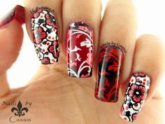 MoYou London Rainbow Contest Entry - Red #moyoulondon #nailstamping