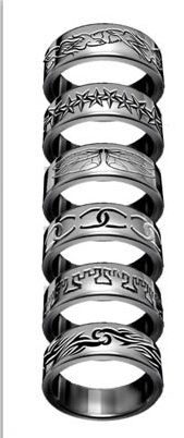 Shadowhunter rings! For those who love the Mortal Instruments Books by Cassadra Clare! This would be SO awesome to have one<3
