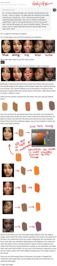 Finding Undertones by HaNJiHye — Skin colors tones tutorial — Coloring Tutorials