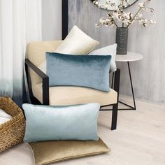Jean Pierre Lucas Collection Champagne Modern Velvet 14 in. x 24 in. Decorative Lumbar Pillow (Set of - The Home Depot Furniture, Taupe Pillow, Easy Pillows, Lumbar Throw Pillow, Decorative Pillow Sets, Home Decor, Throw Pillow Sets, Pillows, Living Room Decor Pillows