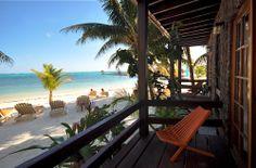 San Pedro, Belize; Beachfront Cabana-amazing.