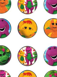 FREE Barney Birthday Party Printables