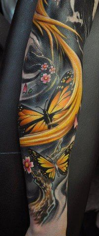 Kinda dark and eerie, but still pretty and girly butterfly sleeve
