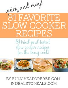 81 amazing slow cooker recipes!! YES PLEASE!!!
