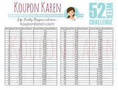 FREE 52 Week Money Saving Challenge Worksheet {Save $1378 in 2014}