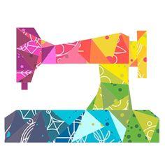 Geometric Sewing Machine Paper Pieced Pattern