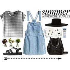 My 5 Summer Staples by emyemoemu on Polyvore featuring polyvore fashion style Monki H&M Rachael Ruddick Brixton Neutrogena Nearly Natural Maison Scotch