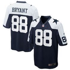 30f834277 Mens Dallas Cowboys Dez Bryant Nike Navy Blue Throwback Limited Jersey