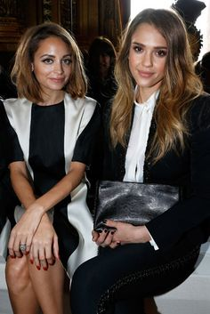 Stella McCartney Front Row - Nicole Richie and Jessica Alba