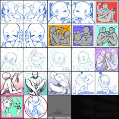 Draw the Squad Drawing Reference Poses, Drawing Skills, Drawing Base, Figure Drawing, Drawing Drawing, Poses Manga, Drawing Expressions, Poses References, Art Poses