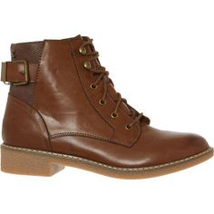 Cognac Brown Lace-Up Ankle Boots - Ankle Boots - Boots - Shoes - Women Lace Up Ankle Boots, Shoe Boots, Shoes, Tk Maxx, High Tops, Combat Boots, High Top Sneakers, Footwear, Brown