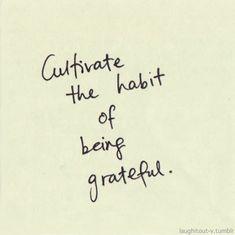 感謝する習慣をみにつけよう。