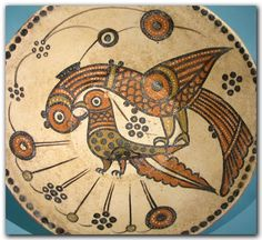 Nishapur Pottery Bowl with Large Birds, Near East, c. 12th Century A.D.