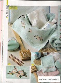 Gallery.ru / Фото #128 - 1 - Fleur55555 Cross Stitch Embroidery, Cross Stitch Patterns, All Craft, Cross Stitch Flowers, Needlepoint, Towel, Textiles, Crafts, Cherry Blossoms