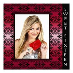 ==> consumer reviews          	Red Black Damask Photo Sweet 16 Birthday Party Custom Invitations           	Red Black Damask Photo Sweet 16 Birthday Party Custom Invitations lowest price for you. In addition you can compare price with another store and read helpful reviews. BuyDeals          	...Cleck Hot Deals >>> http://www.zazzle.com/red_black_damask_photo_sweet_16_birthday_party_invitation-161272993884454231?rf=238627982471231924&zbar=1&tc=terrest