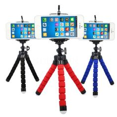 Versatile tripod for smart phones and digital cameras. Allows easy placement of your device in typically unusual locations to enable steady and smooth video recording. Portable enough to stow away eas
