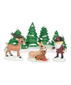 Department 56 Rudolph the Red-Nosed Reindeer Meeting Santa Figurine Set #zulily #zulilyfinds