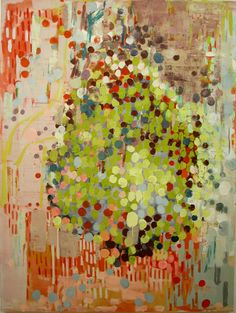 """Molly Herman, Bom-Pop, oil on canvas, 79 x 59"""". Inspiration for January's exhibit, """"Abstract Expressionism Revisited"""""""