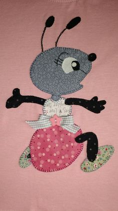 funny ant applique