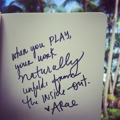 play more, and let the work naturally unfold.... | hey amber rae hey amber, natur unfold, work natur, muse spa, amber rae, pure awesom, vision board