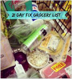 21 Day Fix Grocery List, Melanie Mitro