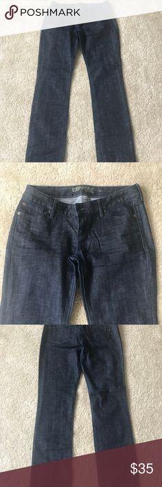 Express Dark Blue Jeans Dark blue straight leg jeans. Great Condition Size 8L. Express Jeans Straight Leg