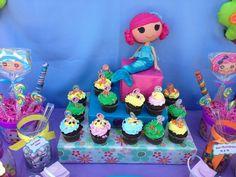 Homemade lalaloopsy cupcakes center piece