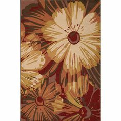 I like this but I feel like it's not going to be orange. Nourison Fantasy Cayenne Rug