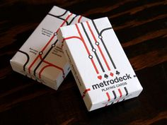 The Dieline's Top 20 Playing CardDecks - The Dieline -Metro Deck  http://thediel.in/146l9cq