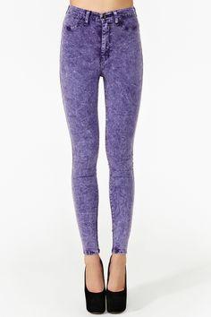 Hot Acid Skinny Jeans - Lilac