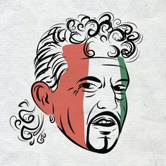 Roberto Baggio Azzurri, Football legends by Taneli Okkonen