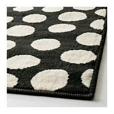 ULLGUMP Teppich Kurzflor, schwarz, weiß