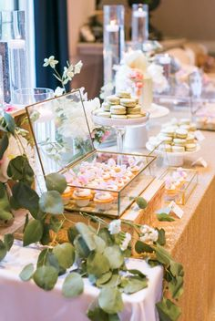 Featured Photographer: Jasmine Lee Photography; wedding reception dessert table idea, click to see more wedding details.