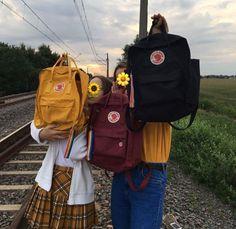 Ochre, Plum, and Black~ Mochila Kanken, Kanken Backpack, My Bags, Purses And Bags, Aesthetic Backpack, Art Hoe Aesthetic, Vanz, Estilo Retro, Backpacks