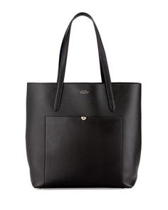 Panama North-South Tote Bag, Black by Smythson at Neiman Marcus.