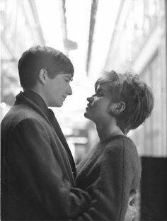 """Jean-Pierre Léaud et Marie-France Pisier dans """"Antoine et Colette"""", 1962 (François Truffaut)"""