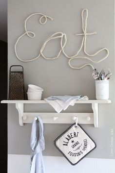 How to Make Rope Letters for fun DIY home decor! Tutorial at LoveGrowsWild.com