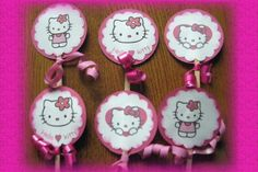 Hello Kitty Cupcake toppers- come check them out at Scrap Pantry on Zibbet
