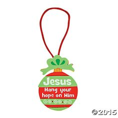 """""""Hang Your Hope on Him"""" Ornament Craft Kit"""