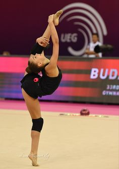 Arina Averina (Russia), backstage European Championships 2017